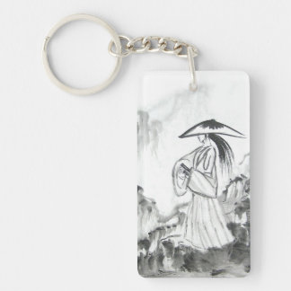 Samurai Drawing Sword Keychain
