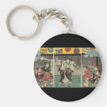 Samurai fighting ghosts and snakes c. 1850 key chain