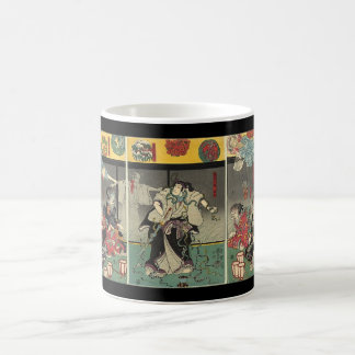 Samurai fighting ghosts and snakes c 1850 mug
