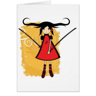 Samurai Girl Card