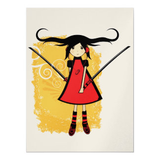 Samurai Girl Card