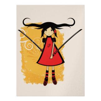 Samurai Girl Card Custom Announcements