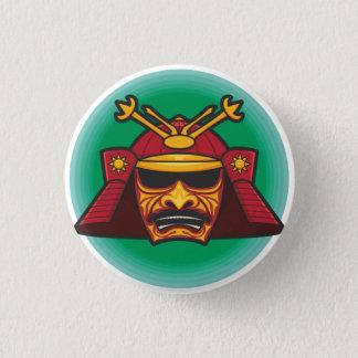 Samurai Helmet 3 Cm Round Badge