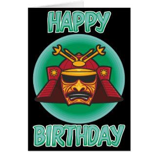 Samurai Helmet Birthday Card