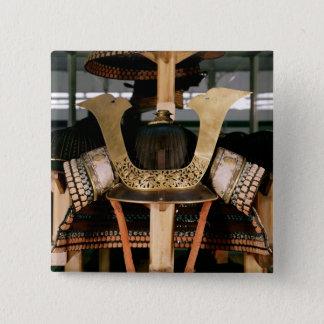 Samurai helmet, mid 14th century 15 cm square badge