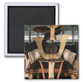 Samurai helmet, mid 14th century square magnet