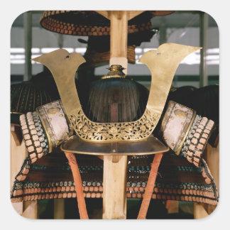 Samurai helmet, mid 14th century square sticker