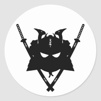 Samurai Helmet & Swords Sticker