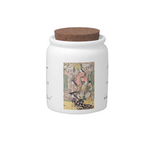 Samurai Hideyoshi and Wives Kitagawa Utamaro Candy Jars