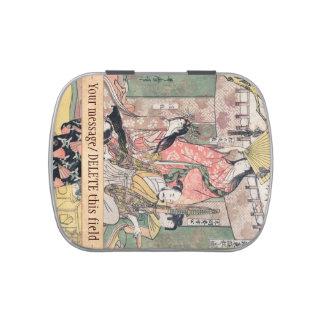 Samurai Hideyoshi and Wives Kitagawa Utamaro Candy Tin