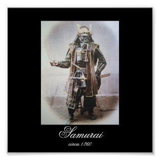 Samurai in Armour circa 1860 (Photo) Poster