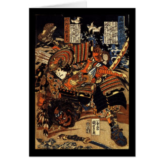Samurai in Combat, circa 1800's Card