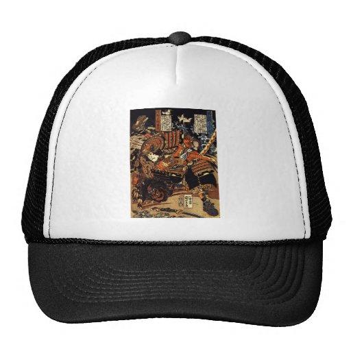 Samurai in Combat, circa 1800's Hats
