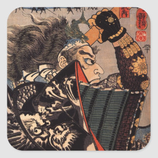 SAMURAI in DRAGON ARMOR STICKER