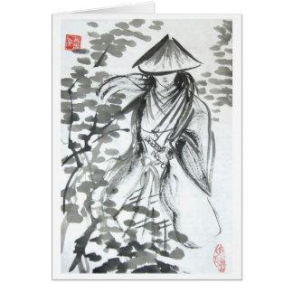 Samurai in the Forst Blank Card
