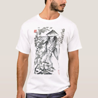 Samurai in the Forst Mens and Unisex T Shirt
