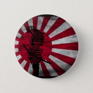 Samurai Japanese flag 6 Cm Round Badge
