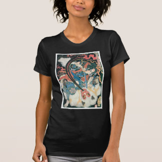 Samurai Killing a Demon, Ancient Japanese Painting T-Shirt