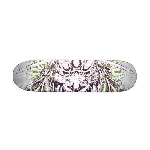 Samurai Mask Dirty Deck Skate Deck