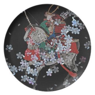 Samurai Melamine Plate