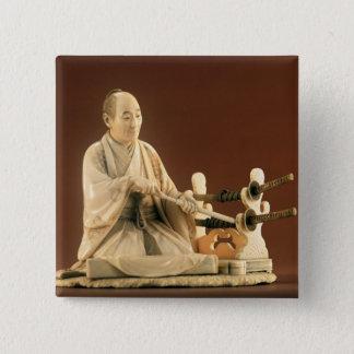 Samurai, Okinomo, Edo Period 15 Cm Square Badge