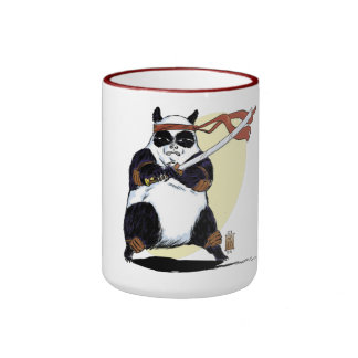 Samurai Panda Ringer Mug
