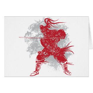 Samurai Pose Greeting Card