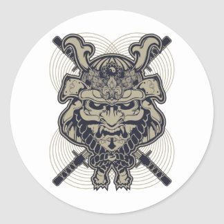 Samurai Rising Round Sticker