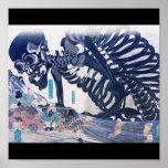 Samurai, Skeleton Painting circa 1800's Posters