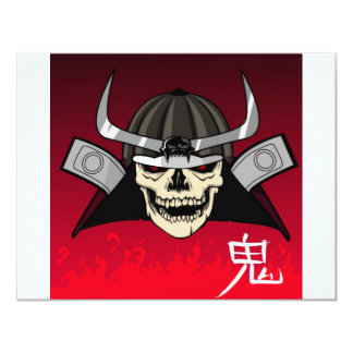 Samurai Skull 11 Cm X 14 Cm Invitation Card