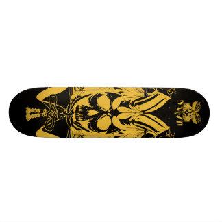 Samurai Skull Gold Black color Skateboard Deck
