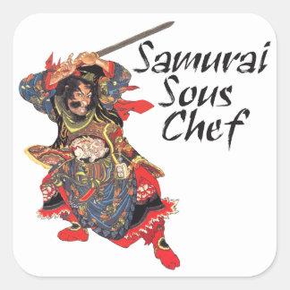 Samurai Sous Chef Square Sticker