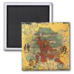 Samurai Square Magnet