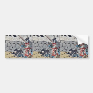 Samurai striking a beat by Utagawa,Kuniyoshi Bumper Sticker