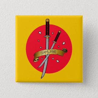 Samurai Sword Tattoo 15 Cm Square Badge
