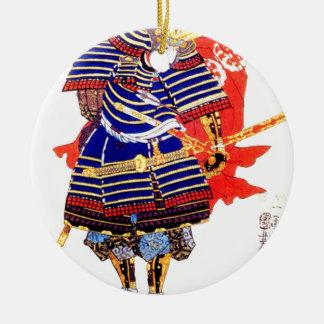 Samurai - Utagawa Kuniyoshi 歌川 国芳 Christmas Ornament