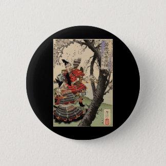 Samurai Viewing Cherry Blossoms circa 1885 6 Cm Round Badge
