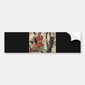 Samurai Viewing Cherry Blossoms circa 1885 Bumper Sticker