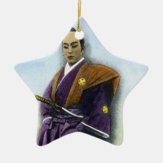 Samurai VIntage Japanese 侍 Ceramic Star Decoration