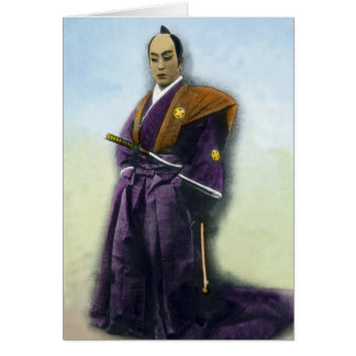Samurai VIntage Japanese 侍 Greeting Card