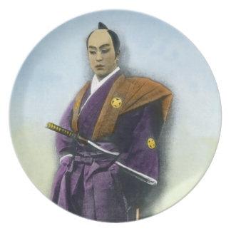 Samurai VIntage Japanese 侍 Plate