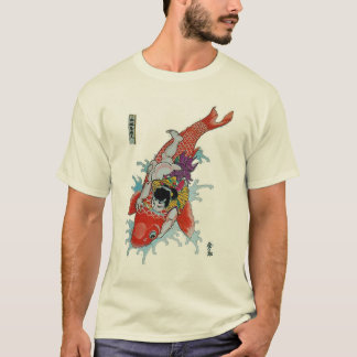 Samurai vs. giant koi fish T-Shirt