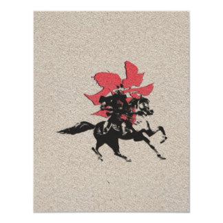 Samurai Warrior 11 Cm X 14 Cm Invitation Card