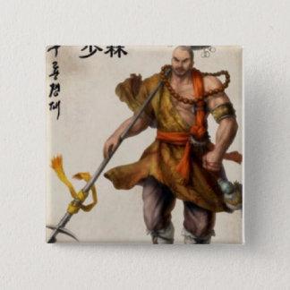 samurai warrior 15 cm square badge