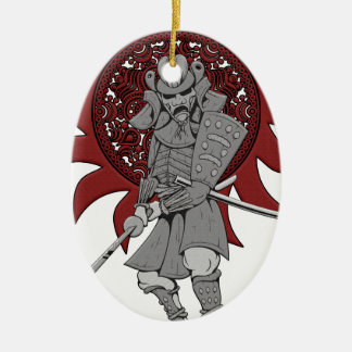 Samurai Warrior Japan Christmas Ornament