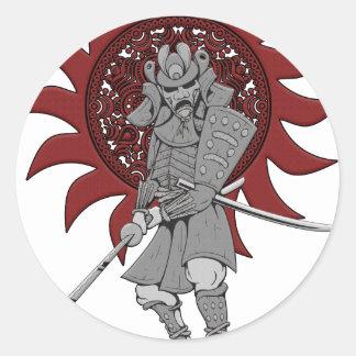 Samurai Warrior Japan Classic Round Sticker