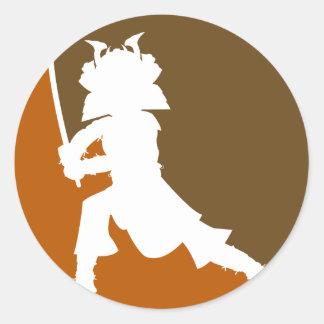Samurai Warrior Silhouette Sticker