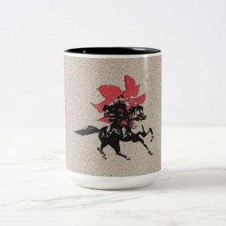 Samurai Warrior Two-Tone Coffee Mug