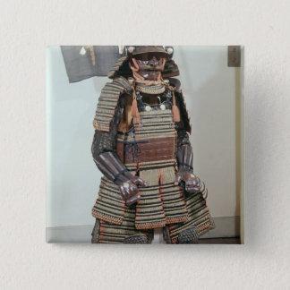 Samurai Warrior's Armour 15 Cm Square Badge