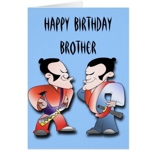 Samurai Warriors Brothers Birthday Cards